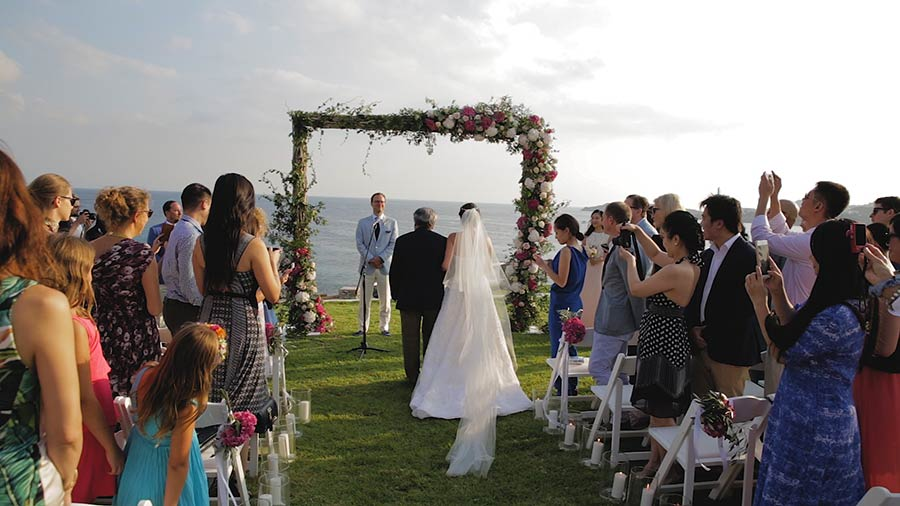 Wedding Cinematography in Santorini