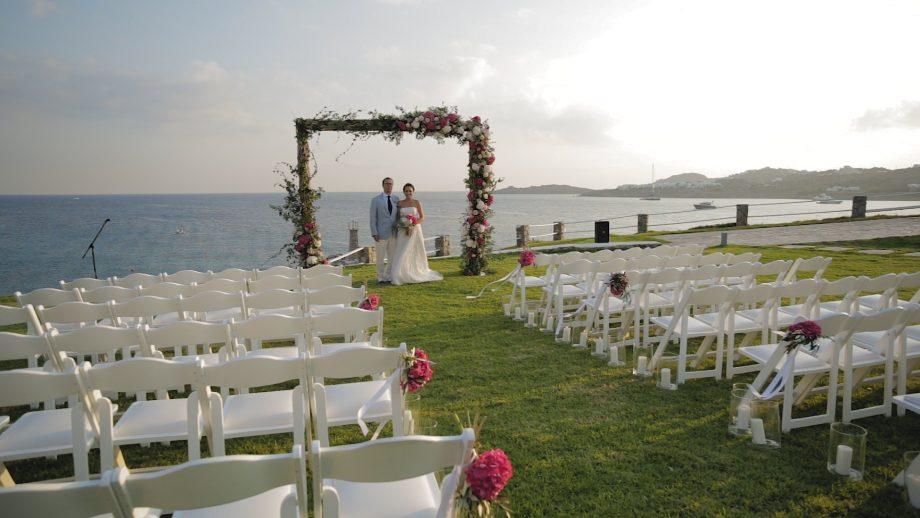 Wedding cinematographer in Greece